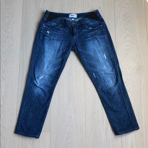 Maternity Paige crop jeans